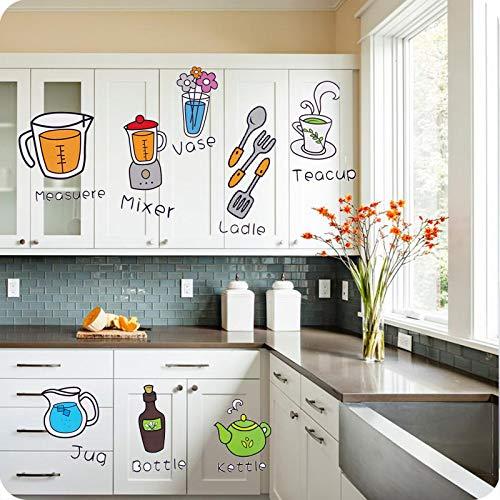 Cartoon Küche Kühlschrank Tür Aufkleber Dekorative Aufkleber Lebensmittel Obst Abnehmbare Wandaufkleber Aufkleber An Der Wand