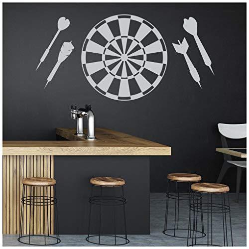 azutura Darts Wandtattoo Dartscheibe Wand Sticker Sport Pubs Wohnkultur verfügbar in 5 Größen und 25 Farben X-Groß Leder Braun