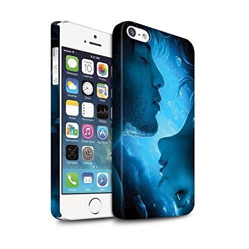 Officiel Elena Dudina Coque / Clipser Matte Etui pour Apple iPhone 5/5S / Coeur flamboyant Design / Art Amour Collection Diamants congelés