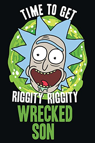 Rick and Morty Wrecked Son Maxi Póster, Papel, Multicolor, 61 x 91,5 cm