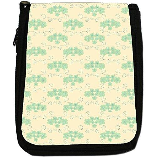 Fancy A Snuggle, Borsa a spalla donna Dainty Green Flower Pattern