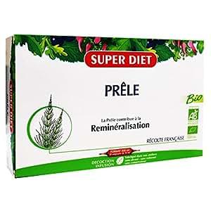 SuperDiet Prêle Bio Excellent reminéralisant 20 ampoules de 15ml soit 300ml