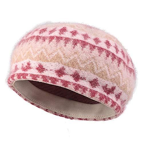 SJJL Stricken Hut, britische Retro Beret Damen Herbst und Winter Maler Hut Mode Stricken Hut -