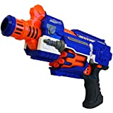 ToysCentral Super Blaster Soft Shooter Toy Gun, Electric Toy Guns With Bullets, 20 Soft Foam Suction Darts Included