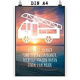 Mr. & Mrs. Panda Poster Din A4 Feuerwehr - Feuerwehr Feuerwehrauto Poster, Wandposter, Bild, Wanddeko, Geschenk