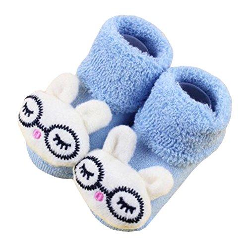 2 Paar gemütliche Designer Unisex-Baby Baumwollsocken Baby Geschenke, Brille Kaninchen
