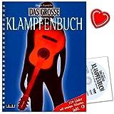 Das grosse Klampfenbuch - 150 Lieder mit wenigen Akkorden - Lieder aus aller Welt (Traditionals, Folksongs, Volks- und Weihnachtsliedern) mit CD und bunter herzförmiger Notenklammer