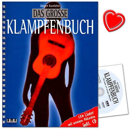 Il Grande libro klampfe-150canzoni con pochi akkorden-Canzoni in tutto il mondo (traditionals, Folk Songs, popolare e canzoni di Natale) con CD e colorata herzfoermiger Note KLAMMER