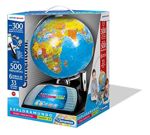 Clementoni-Entdecke das interaktive Mundo-Globo Premium, Mehrfarbig (55247)