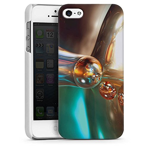 Apple iPhone 4 Housse Étui Silicone Coque Protection Bulles Bulles Chrome CasDur blanc