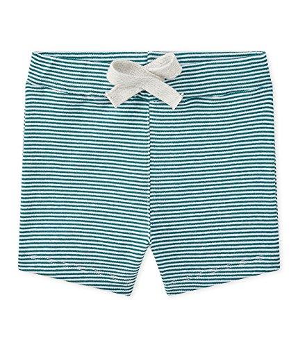 Petit Bateau Baby-Jungen Shorts 28823, Mehrfarbig (Olivier/Marshmallow 10), 62 (Herstellergröße: 3m/60cm)