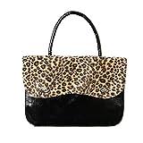 Rockabilly Lackhandtasche | Leoparden Reisetasche-Handtasche | Bügeltasche mit Reißverschluss |...