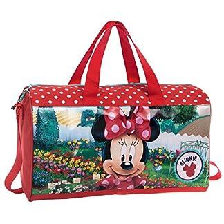 Disney Minnie Garden Bolsa de Viaje, 21.17 Litros, Color Rojo