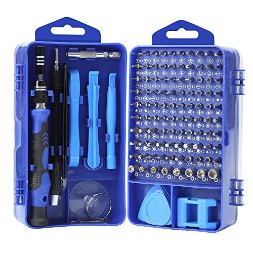 YINSAN Mini Schraubendreher Set, 119 in 1 Feinmechaniker Set, Werkzeug set, Präzisionsschraubendreher Set für iPhone, Laptop, Tablet, Uhren, Kamera, usw (Blau)