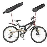 Jeu de gardes-boue avant et arrière pour vélo noir Noir