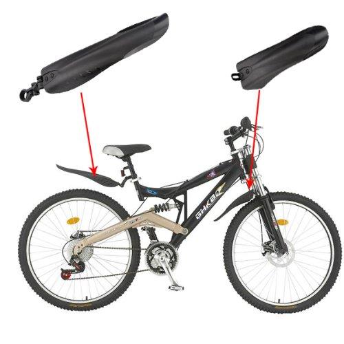 Guardabarros delanteros y traseros para bicicleta de montaña negro