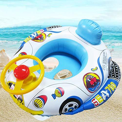Nuluxi Aufblasbarer Auto Schwimmen Ring Sicherheit Float Sitz Schwimmring Lenkrad Schwimmen Ring Auto und Luftschiff Form mit Lenkrad und Schallhorn ist es EIN Produkt perfekt auf Kinder