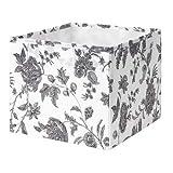 GOPAN IKEA Box in schwarz/weiß; geblümt; (30x30x25cm)