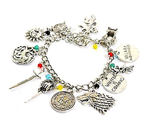 Game of Thrones Charm Bracelet - GOT Jewellery - Lannister, Stark, Tar