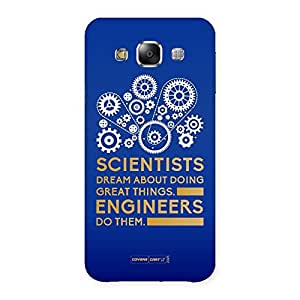 Neo World Premium Engineer Blue Back Case Cover for Samsung Galaxy E5