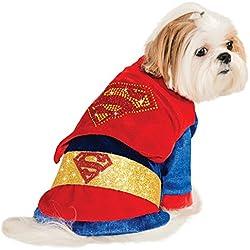 Disfraz de Superman brillante para perro