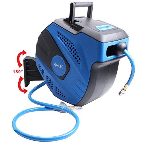 Preisvergleich Produktbild Automatik Druckluftschlauch Aufroller 15m Automatischer Wand Halter Druckluft Schlauchtrommel