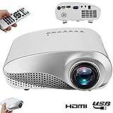 SFXYJ Mini-Projektor, 1080P unterstützte HD Portable Video LED LCD Beamer Heimkino, USB/VGA/HDMI Kinder-Cartoon-Kino-Filmprojektor,White