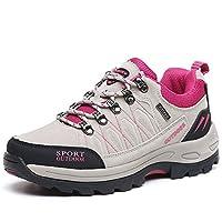 NEOKER Hiking Walking Shoes Mens Womens Trekking Sports Outdoor Low Rise Sneakers - Grey - (4.5UK/38EU)