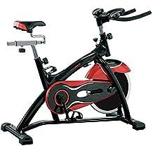 Fitness House PowerPro - Bicicleta estática de ciclismo, color negro / rojo, talla única