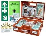 Erste-Hilfe-Koffer KITA PLUS -Paket 1- DIN/EN 13157 für Betriebe + DIN/EN 13164 für KFZ - inkl. 1. Hilfe-Aufkleber