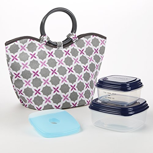 nantucket-insulated-lunch-bag-kit-orchid-gray-flower-trellis-by-fit-fresh