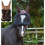 netproshop Qualitäts Ekzemer Maske mit Ohren Insektenschutz verschiedene Größen, Farbe:braun, Groesse:M