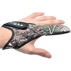Dr. Fish - Lot de 2 gants pour décrochage de carpe, gant de pêche seul doigt avec motif camouflage antidérapant
