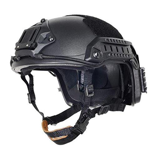 AIRSOFT OPS CORE BLACK SWAT TACTICAL MARITIME FMA ABS HELMET JUMP RAIL L/XL