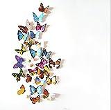 Diawell 12er Set 3D Schmetterlinge Wandtattoo Wandsticker...