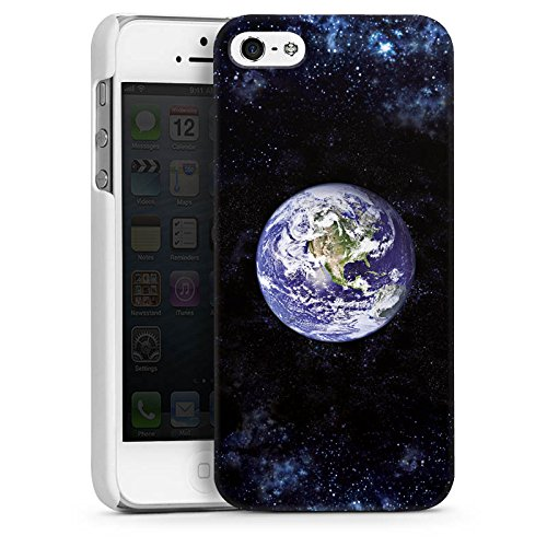 Apple iPhone 4 Housse Étui Silicone Coque Protection Terre Terre Monde CasDur blanc