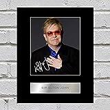 Sir Elton John Photo dédicacée encadrée