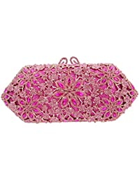 Bonjanvye Shining Blossoming Flower Purses Crystal Handbags for Girls