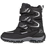 Kappa Unisex-Kinder Tex K 260558K-1115 Sneaker, Mehrfarbig (Black,Silver 001), 30 EU