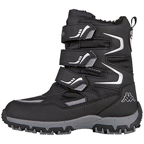 Kappa Unisex-Kinder TEX Kids Sneaker, Mehrfarbig (Black,Silver 001), 32 EU