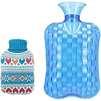 Gummi-Thermoskanne Dick und sicher 2 Liter Heißwasserflasche Heißwasserbeutel für Schmerzen kalt mit Stricken... preisvergleich bei billige-tabletten.eu