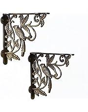 Casa Decor Fowl Place Antique Wall Bracket for Wall Shleves Home Décor Set (2 pieces) - Bronze