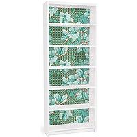 Apalis Vinilo adhesivo para muebles IKEA - Billy Bookshelf - Oriental floral pattern, Größe:2 mal 94cm x 76cm