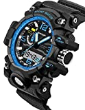 Sanda Digital Sports Watch Mens Outdoor Military Stopwatch Alarm Black Blue