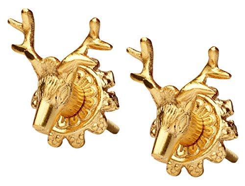 Set di 2manopole decorative in vendita-Renna fatta a mano metallo