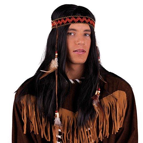 Kostüm Indianer Zubehör Perücke - Karneval Klamotten Kostüm Perücke Indianer Buffalo Bill Zubehör Fasching Karneval