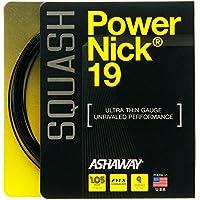 Ashaway PowerNick 19 Squash String Set - Black by Ashaway