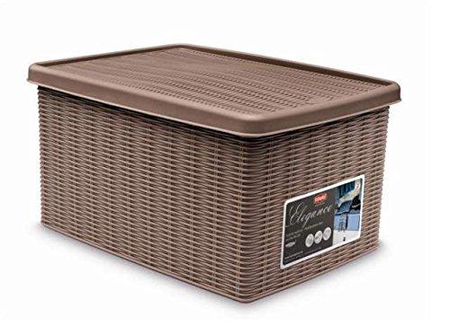 Fußball 16 Box Case (Elegante Behälter Box braun mit Deckel 19x 29x 16cm stf600)