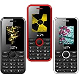 GLX W8 (Black,Red,White), 1.8 Inch Display Combo Of Three Basic Feature Mobile Phone With Wireless FM & 1 Year Manufacturer Warranty