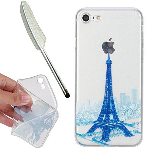 roo Cartoon Tiere Blume Bunte Malerei Crystal durchsichtig Weiche Klare Ultradünne Silikon handyhülle TPU Bumper Etui für iPhone 7 / iPhone 8 4,7
